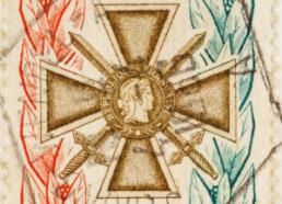 Citation avec croix de guerre recompense militaire miniature