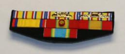 montage de médailles sapeur-pompier avec ancienneté, fédérale et départementale